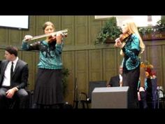 The Collingsworth Family - The Prayer - Violin Duet by Brooklyn & Courtney