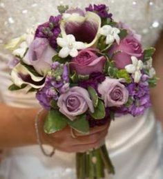 Purple Calla Lily, Lavender Rose Bouquet