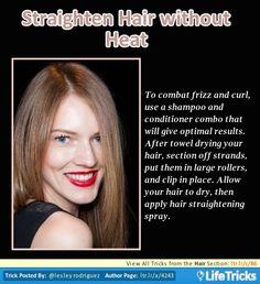 Hair - Straighten Hair without Heat