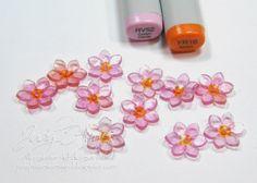 Shrink plastic flowers
