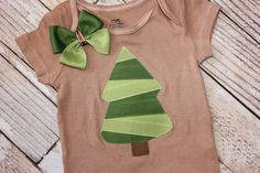 Baby Christmas Tree Outfit Bodysuit or T by SweetCrusaderStyle, $27.50