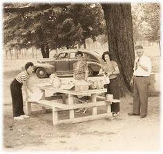 picnic area, roadsid picnic, memori, remember this, trunk, picnic tables, lunch, kid, fast foods