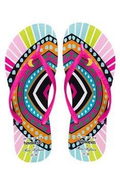 sandal, fun print