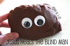 mud playdough, bible lessons, church crafts for toddlers, sunday school crafts, jesus healing the blind man, jesus heals the blind man, bible lesson activities, toddler sunday school lessons, kid