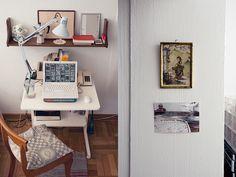 Studio of textile artist Karen Barbe/Textileria on Depto 51 blog.