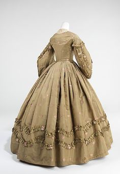 Afternoon Dress 1862, American, Made of silk, cotton, and wool
