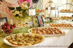 Party Food (bridal shower, baby shower)