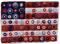 Felt and Button American Flag--wow!