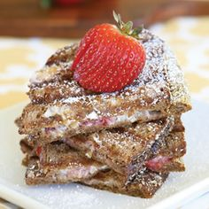 Hazelnut Thins With Crushed Raspberries And Strawberries Recipe ...