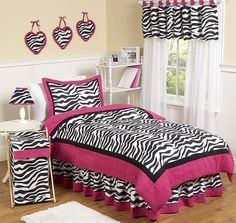 This zebra bedding, curtains, lamp, and laundry hamper are must-haves to make my room stylish and the laundry hamper will help so my clothes won't be thrown around.   Google Image Result for http://ep.yimg.com/ca/I/yhst-95552160618728_2217_247495839