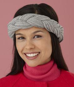 Craft a headband for running using our t-shirt yarn, Fettuccini.