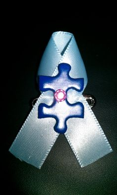 Autism Speaks easy to make pin