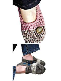 Super Quick Crochet Slippers
