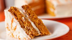 Carrot Cake with Fresh Orange Cream Cheese Frosting