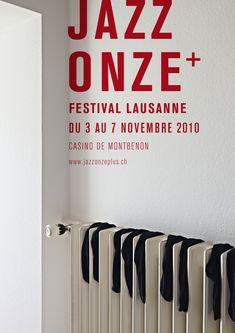 Jazz Onze Festival poster - Lausanne