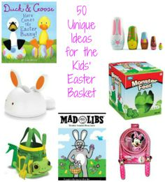 Wonderful non-candy ideas for your Easter baskets!