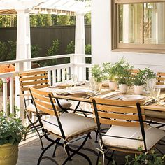 Louisiana Back Porch - 25 Bright Ideas for Outdoor Dining | Southern Living