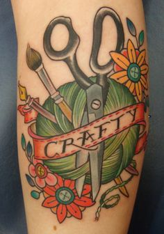 Super cute Crafty tattoo