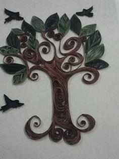 Beautiful Filigrana con papel tree/birds - by: Ala M Yasin - of Maritza Laboy's