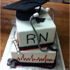 Nursing graduate cake