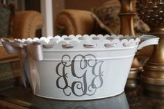 tubs, engag parti, buckets, metals, big bucket, gift idea, nice big