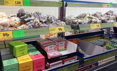 UK discount retailer Lidl has only healthier options in all its checkout aisles, such as dried fruits, seeds, and tea. (Lidl, UK, 5/14)