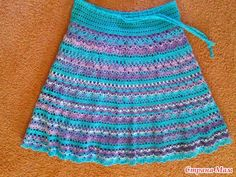 """""""trim in a row"""" skirt patterns, inspiration, color skirt, crochet skirt pattern, graphic patterns, crochet skirts, crochet patterns, skirt inspir, falda"""
