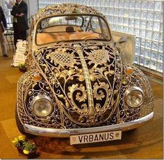 Steampunk VW car. #steampunk #car #VW (should I admit as a grandma -that I love the steam punk look?)