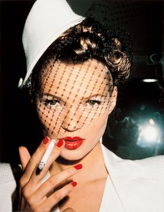 Kate Moss with Fag, Paris, 1994 by Roxanne Lowit