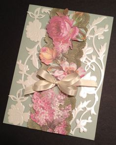 Sweet Floral Valentine's Day or All Occasion Card with Anna Griffin Materials