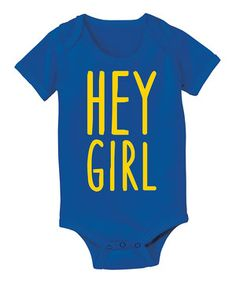 This Royal Blue 'Hey Girl' Bodysuit - Infant by LC Trendz is perfect! #zulilyfinds