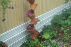 Great idea for an herb garden on the deck