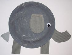 Paper plate elephant craft - photo 1