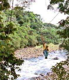 Zip Line in Coasta Rica.