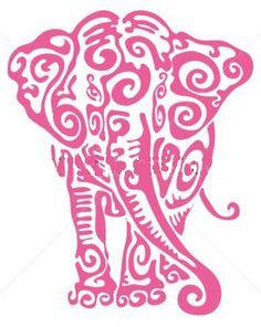 Cross Stitch Pattern  Pink Elephant  8  x  10.5 & by Deelliiees, $8.00