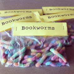 bookworm party favors