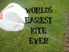 Due to a serious kite craft failure I discovered the worlds easiest kite ever!