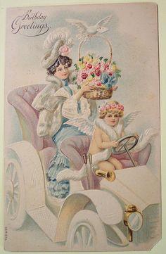 Vintage Postcard  #birthday