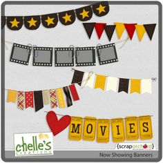 Now Showing banners freebie from Chelle's Creations