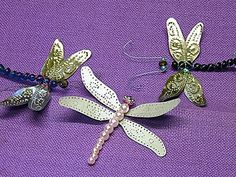 """Punched Tin """"Paper"""" Dragonfly Wings by gingerbread_snowflakes, via Flickr"""