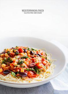 mediterranean pasta [vegan, gluten-free] – A House in the Hills
