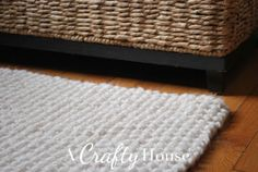 A Crafty House | Knit and Crochet Patterns and Accessories: Free Pattern Friday: Chunky Seed Stitch Knit Rug Pattern