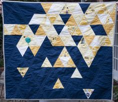 navy backing quilt -