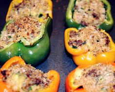 Spicy Sausage and Quinoa Stuffed Bell Peppers ... 2nd most popular recipe