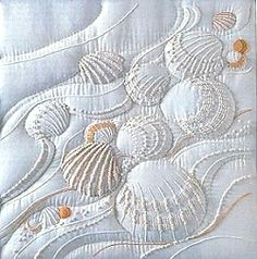 Sea shell embroidery