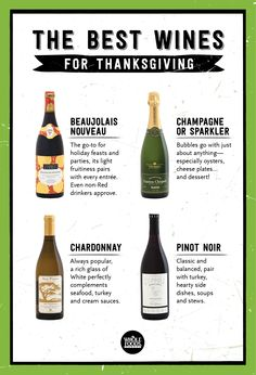 Here's what you should be pouring at big meals and everyday dinners this season! These wines go great with the flavors of the holidays!