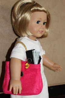 """MADE: Pieces For Reese: 18"""" Doll: Purse, Money, Wallet, Passport, Checkboo..."""