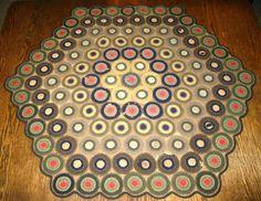 penny rugs, wool penni, antiqu penni, penni rug