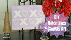 DIY Valentine's Canvas Art from Our Thrifty Ideas