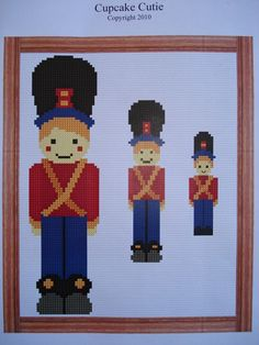 Toy Soldier cross stitch pdf pattern by cupcakecutie1 on Etsy, $7.00